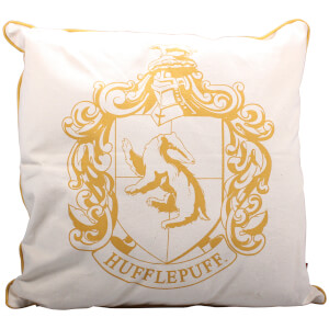 Harry Potter Hufflepuff Crest Filled Cushion