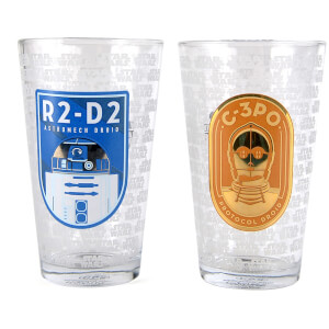 Star Wars R2-D2 and C-3PO Large Glasses (Set of 2)