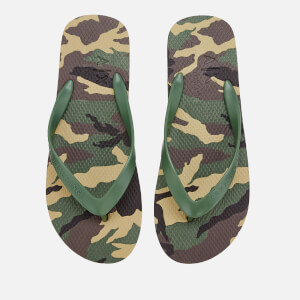 Armani Exchange Men's Printed Flip Flops - Military Green
