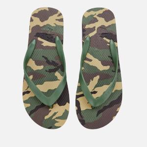 Armani Exchange Men's Printed Flip Flops - Military Green