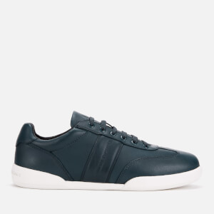 Armani Exchange Men's Leather Low Profile Trainers - Navy
