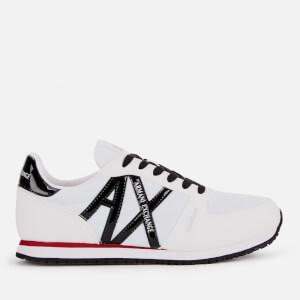 Armani Exchange Women's AX Logo Runner Style Trainers - White