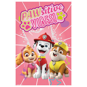 Paw Patrol Pawsitive Vibes Poster