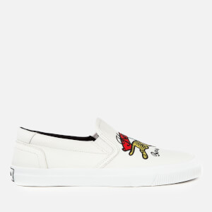 KENZO Women's K-Skate Jumping Tiger Slip-On Trainers - White