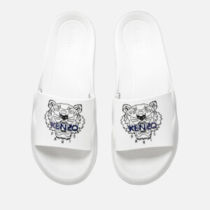 KENZO Men's Pool Slide Sandals - White