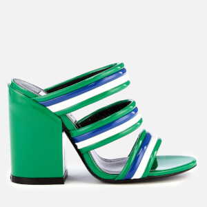 KENZO Women's Ana Heeled Mule Sandals - Grass Green