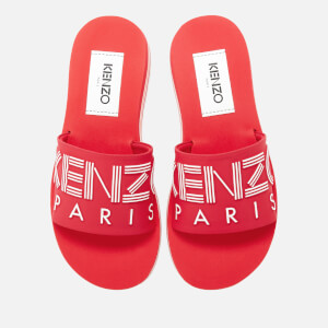 KENZO Women's Papaya Slide Sandals - Medium Red