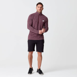 Men's Performance 1/4 Zip Top - Burgundy Marl
