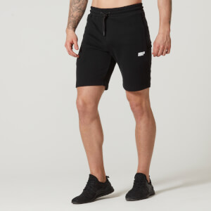 Myprotein Tru-Fit Zip Sweatshorts - Black