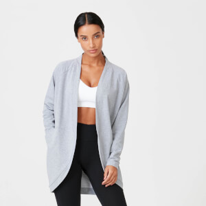 Superlite Cardigan - Grey Marl