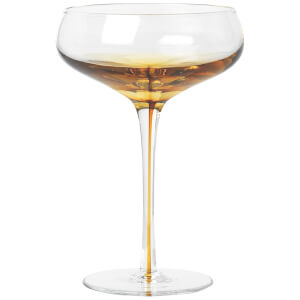 Broste Copenhagen Amber Cocktail Glass - Mouthblown Caramel