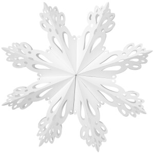 Broste Copenhagen Paper Snowflake Christmas Decoration - Large - White
