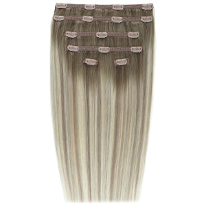 Beauty Works Double Hair Set 18 Inch Clip-In Hair Extensions – #Scandinavian Blonde