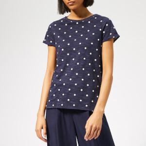 Joules Women's Nessa Print Jersey T-Shirt - French Navy Spot