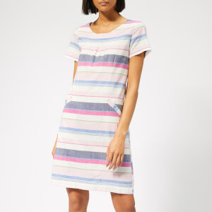 Joules Women's Henrietta Linen Shift Dress - Blue Stripe