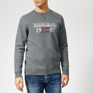 Napapijri Men's Berthow Logo Sweatshirt - Dark Grey Melange