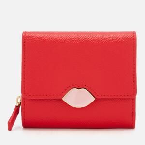 Lulu Guinness Women's Lipstick Lock Saffie Wallet - Scarlet