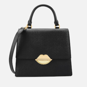 Lulu Guinness Women's Lip Push Lock Patty Bag - Black