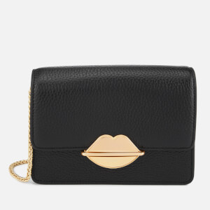 Lulu Guinness Women's Lip Push Lock Polly Cross Body Bag - Black