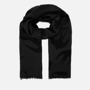 McQ Alexander McQueen Women's Swallow Cut Up Scarf - Darkest Black/Slate