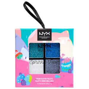 NYX Professional Makeup Sprinkle Town Cream Glitter Palette - Cool