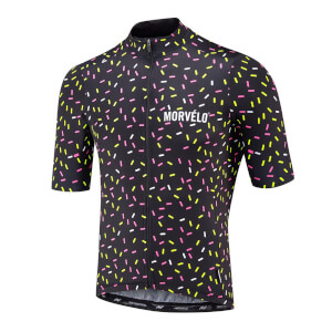 Morvelo Strands Short Sleeve Jersey - Black/Yellow/White/Pink