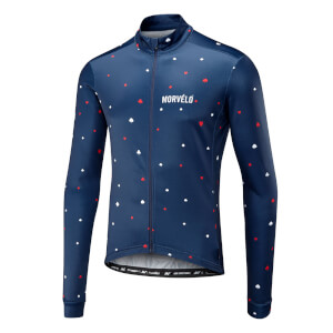 Morvelo Suits Thermoactive Long Sleeve Jersey - Blue
