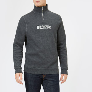 Russell Athletic Men's Atmosphere 1/4 Zip Sweatshirt - Charcoal Marl