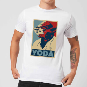 T-Shirt Homme Poster Yoda Star Wars Classic - Blanc