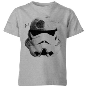 Star Wars Command Stromtrooper Death Star Kids' T-Shirt - Grey