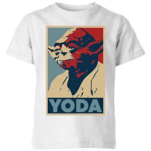 Star Wars Classic Yoda Poster Kinder T-Shirt - Weiß