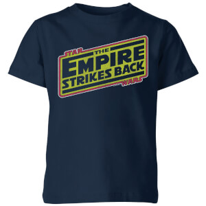Star Wars Empire Strikes Back Logo Kids' T-Shirt - Navy