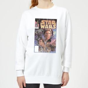 Star Wars Classic Classic Comic Book Cover Damen Pullover - Weiß