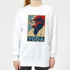 Star Wars Yoda Poster Women's Sweatshirt - White