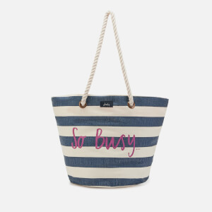 Joules Women's Seaside Summer Bag - Cream Stripe So Busy