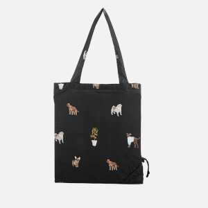 Joules Women's Packaway Bag - Black Dogs