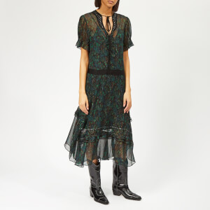 Coach 1941 Women's Embellished Retro Floral Dress - Navy/Green