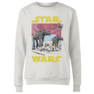 Star Wars ATAT Women's Sweatshirt - White