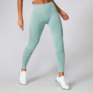 Acid Wash Leggings - Seafoam