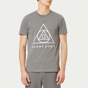 Avant L'Oeil Men's Centre Logo T-Shirt - Grey