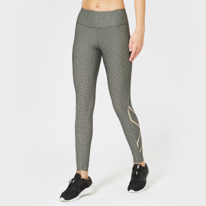 2XU Women's Printed Mid Rise Compression Tights - Black