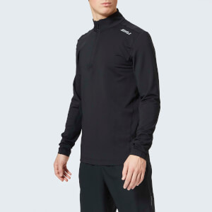 2XU Men's X Vent 1/4 Zip Long Sleeve Top - Black/Black