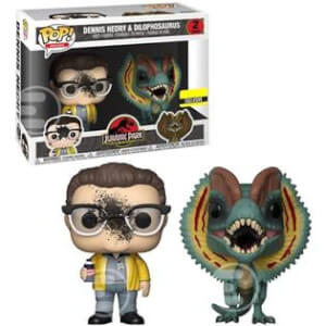 Jurassic Park Dennis Nedry and Dilophosaurus Goo-Splattered EXC Pop! Vinyl Figure 2-Pack