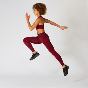 Legging sans couture Impact - Oxblood