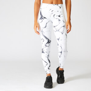 Hvide Marble Leggings