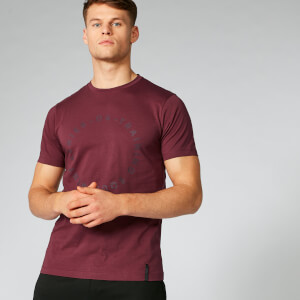 Myprotein Crew Neck Graphic T-Shirt - Oxblood