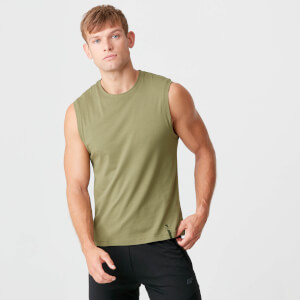 Myprotein Luxe Classic Sleeveless T-Shirt - Light Olive