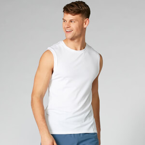 Luxe Classic Sleeveless T-Shirt - White