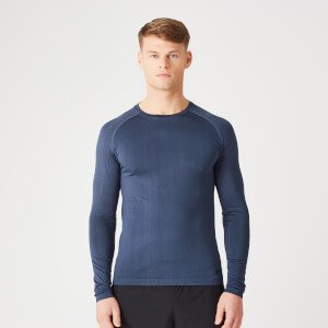 Myprotein Elite Seamless Long-Sleeve T-Shirt – Indigo