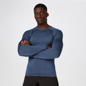 Elite Seamless Long-Sleeve T-Shirt – Indigo Blau